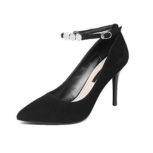 Hauts Mode Blackmatte Pointus Sauvage Chaussures Confort Pour Talons Femmes Zpedy Boucle 461SF