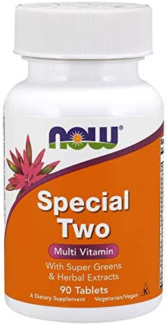 NOW Supplements, Special Two with Super Greens & Herbal Extracts, 90 Tablets