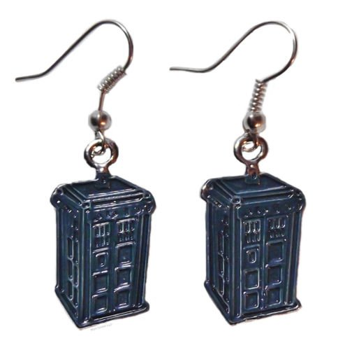 Doctor Who TARDIS Police Box Metal/Enamel French Wire -
