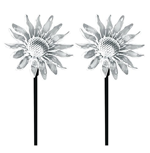 Stake Sunflower (Solar Powered Sunflower Garden Stake Pathway Color Change Lights (Set of 2))