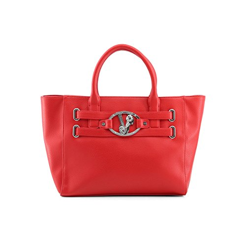 Borsa Versace jeans rossa con logo in argento new collection (K)