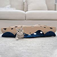 Lifebea Cat Play Tunnel for Indoor Cats - Collapsible Cat Cave Pet Toys, Small Puppy Rabbit Tunnel, Universal Cat…