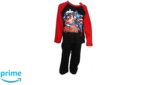 The Avengers Captain America para niños a partir de pijama 3-10 años disponible: Amazon.es: Ropa y accesorios