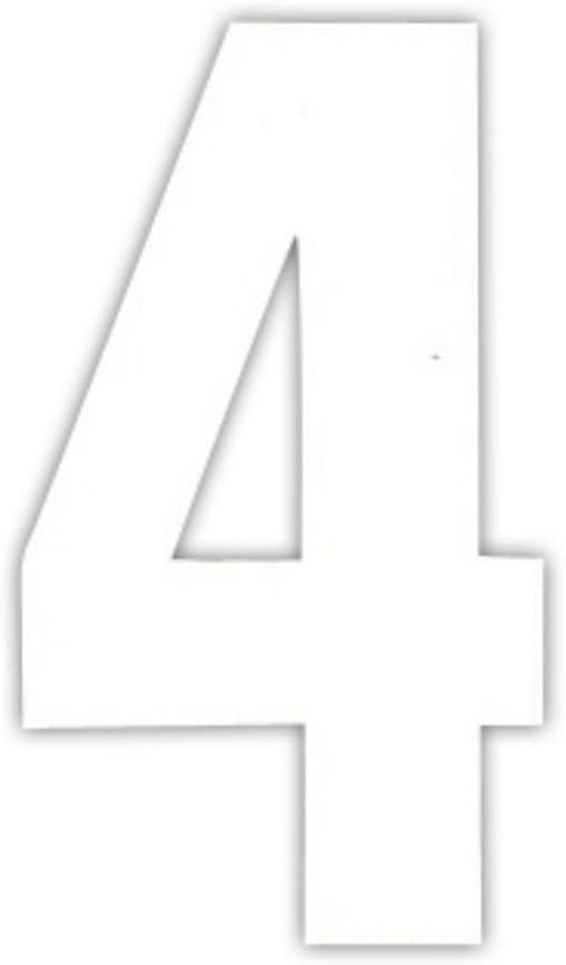 Sulo/ N/úmeros de basura blanco pegatinas para n/úmeros de casa /Contenedor de basura o basura 4,