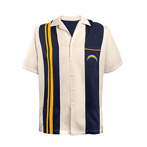 NFL San Diego Chargers Unisex NFL Bowling Shirt Spare, Large, Navy ()