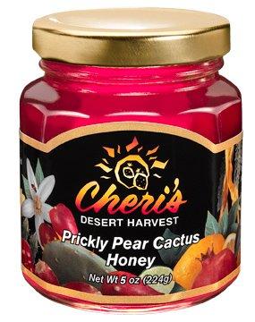 Prickly Pear Honey - Cheri's Prickly Pear Cactus Honey- 5 oz - Sweet Cacti - Southwest Desert Spread- Southwestern Flavor