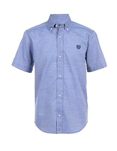 Chaps Boys Short Sleeve Woven Shirt with Stretch
