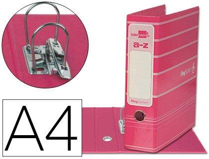 5 ARCHIVADORES DE PALANCA LIDERPAPEL A4 FILING SYSTEM ROSAS: Amazon.es: Oficina y papelería