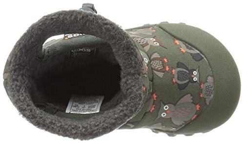 Bogs Baby B-MOC Puff Owl Winter Snow Boot (Toddler),  Moss/Multi, 6 M US Toddler