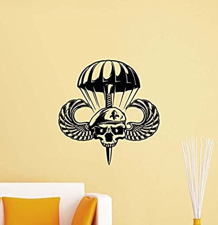 Amazon.com: Air Forces Wall Decal Army Soldier Parachute Logo Police ...
