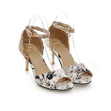 LvYuan Mujer-Tacón Stiletto-Zapatos del club-Sandalias-Oficina y Trabajo Vestido Fiesta y Noche-Purpurina Materiales Personalizados Semicuero- Blue