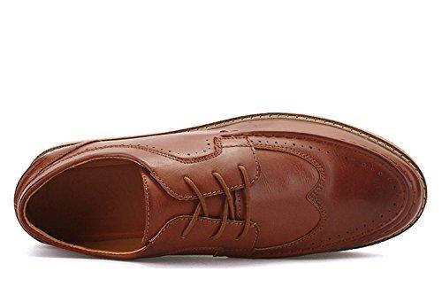 De Lacets À Homme Ville Insun Pour Peau Chaussures USwR7nq5
