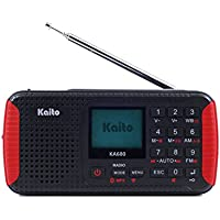Kaito KA680 Pocket Digital AM/FM NOAA Weather Emergency Radio with Location-Specific Public Emergency Alert, Bluetooth, MP3 Player & Recorder