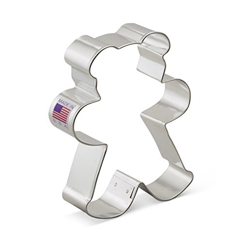 Ann Clark Teddy Bear Cookie Cutter - 4.25 Inches - Tin Plated Steel