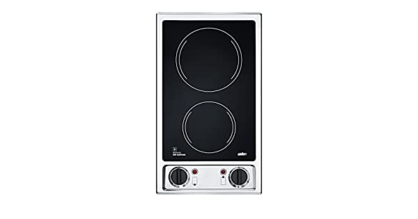 Amazon.com: Summit cr2b120: 2-burner 120 V Electric Cooktop ...