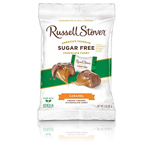 Russell Stover Sugar Free Butter Cream Caramels, 3 oz. Bag