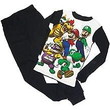 AME Super Mario Bros. Size 10 Luigi, Bowser, Yoshi and Wario Cotton Thermal Pajama Set
