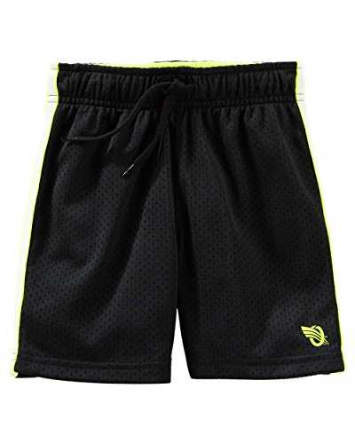 OshKosh B'Gosh Boy's Black Athletic Mesh Shorts (6)