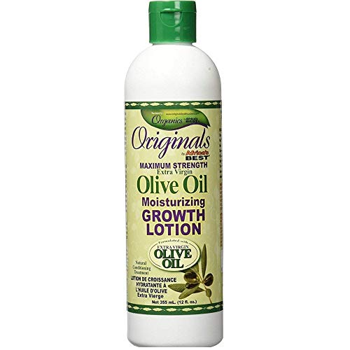 Africa's Best Originals Maximum Strength Extra Virgin Olive Oil Moisturizing Growth Lotion 12 oz (Pack of 3)