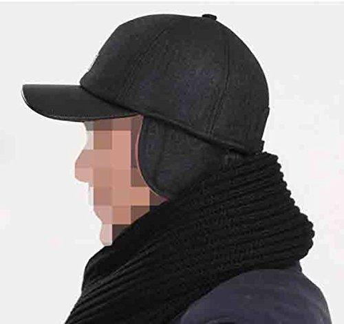 Calentador De Zhmiao Libre Orejeras Invierno Con Aire Hombre Black Deporte Béisbol Gorro Gorra Al P1rwzPxf