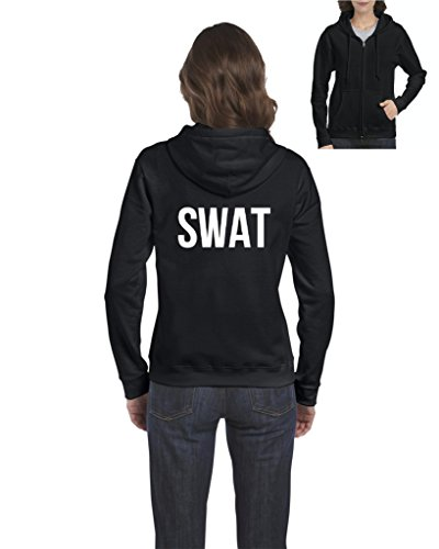 Mom's Favorite Novelty Hoodie SWAT S.W.A.T. Law Enforcement Police Halloween Costume Party Womens Sweaters Zip Up ()