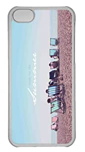 Customized iphone 5C PC Transparent Case - Summer Beach 3 Personalized Cover