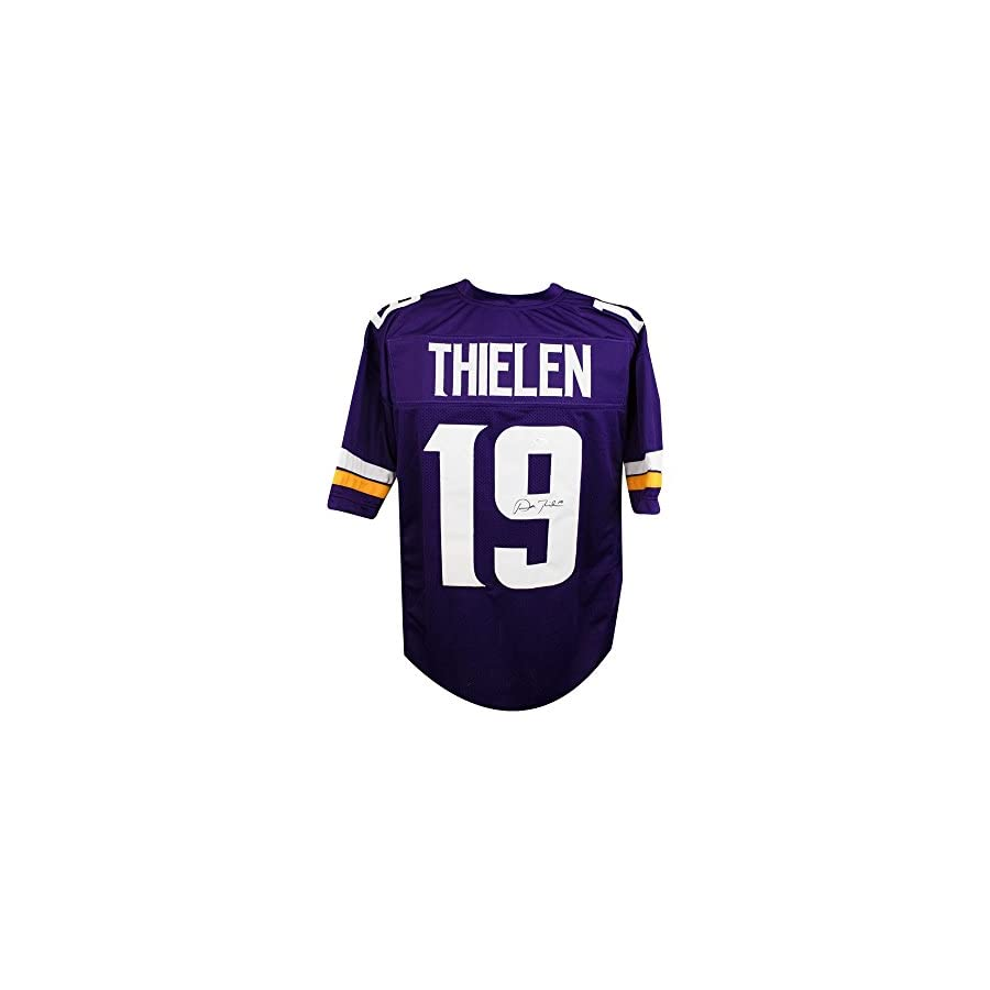 Adam Thielen Autographed Minnesota Vikings Custom Purple Football Jersey JSA COA