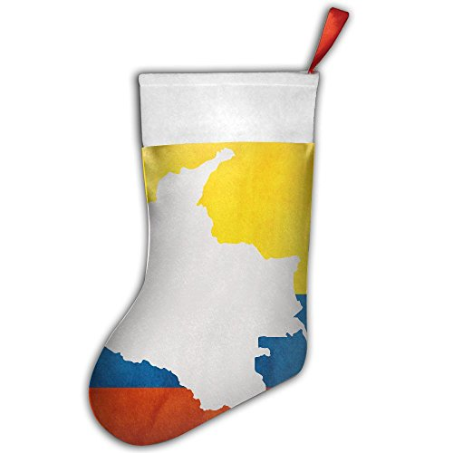 Xiuarrowxiu Christmas Stocking Colombia Flag Map Xmas Tree