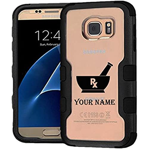 Galaxy S7 Case RX Custom Name, Extra Shock-Absorb Clear back panel + Engineered TPU bumper 3 layer protection Sales