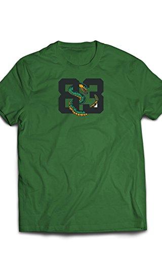 Eron Apparel 8 Bit Series 83 Pixel Shirt Men Tees, Irýsh Green, Size Small