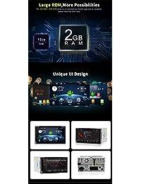 "2 din Android 7.1 2G 32G Wifi Modelo 4 Core 6.95 ""Universal Car DVD Reproductor de CD Soporte de navegación estéreo OBD2   DBA   Subwoofer   TPMS   Mirror Link   USB de hasta 128 GB Con cámara"