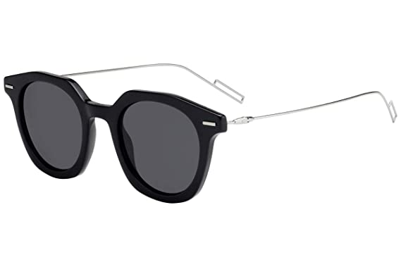 9218110758 Image Unavailable. Image not available for. Color  Christian Dior Homme  DiorMaster Sunglasses Black w Grey Blue Lens ...