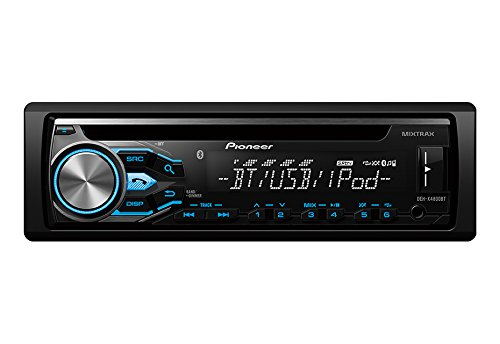 Pioneer MVH-S215BT Stereo Single DIN Bluetooth In-Dash USB MP3 Auxiliary AM/FM/Digital Media Pandora and Spotify Car Stereo Receiver with Pair of 6.5