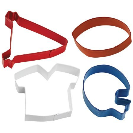 Metal Cookie Cutter Set, Football Theme 4 ct (Minecraft Cookie Cutter Set compare prices)