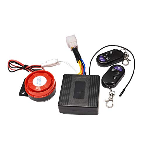 ZXTDR Motorcycle Anti-Theft Security Alarm System Security Remote Engine Start Immobiliser (Best Immobiliser For Motorcycles)
