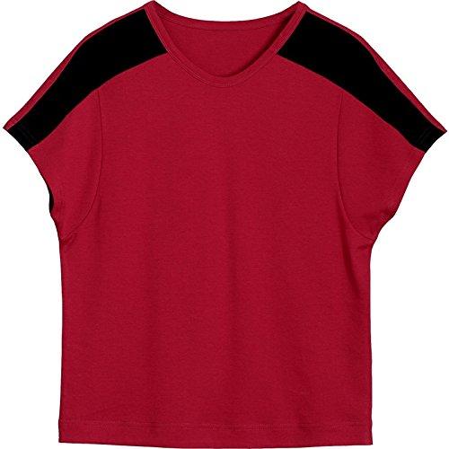 MOMO566225 maniche donna Rosso per maniche corte shirt T Maglietta Maglietta corte a corte a a maniche RSgTR4rc