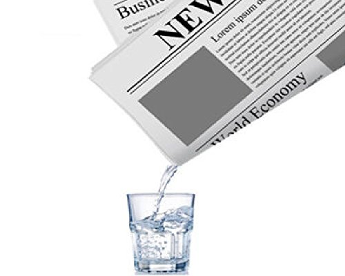 Magicswizz brand Amazing toy Magic Tricks Water In Newspaper Illusions Tricks Products Paper Magic (Newspaper Ad Cover)