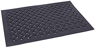 BirdRock Home 24 x 36 Rubber Doormat with Basket Weave Design | Outdoor Doormat | Keeps your Floors Clean | Decorative Design