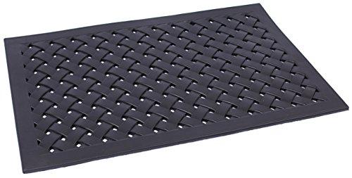 BirdRock Home 24 x 36 Rubber Doormat with Basket Weave Design | Outdoor Doormat | Keeps your Floors Clean | Decorative Design by BirdRock Home