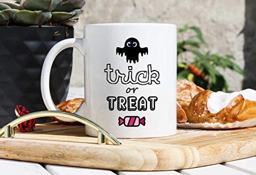 Halloween Coffee Mugs - Halloween Gifts - Trick Or Treat Gift - Gifts For Halloween Party - Holiday Mugs - Autumn Mug- Fall Mug- Friend Gift