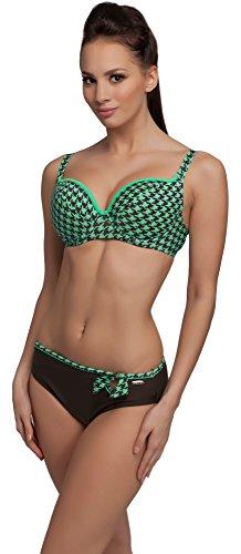 aQuarilla Conjuntos de Bikinis para Mujer Dalman Menta/Marrón