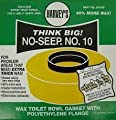 No-Seep #10 Toilet Gasket Wax Ring with Bolts