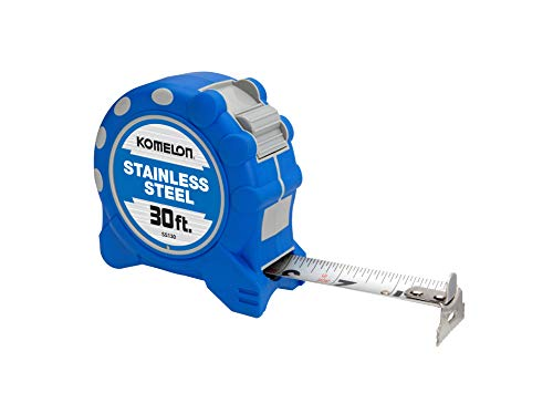 (Komelon SS130SS Gripper 30-Foot Stainless Steel Measuring Tape)