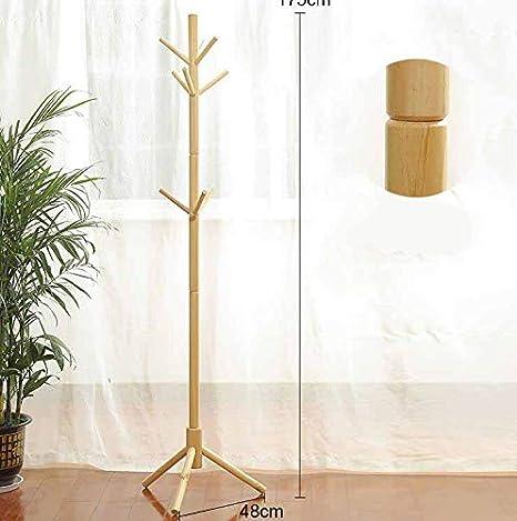 Amazon.com: QSBY - Perchero de madera con forma de árbol ...