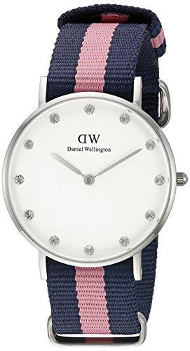 Daniel-Wellington-0962DW-Reloj-con-correa-de-acero-para-mujer-color-blanco-gris