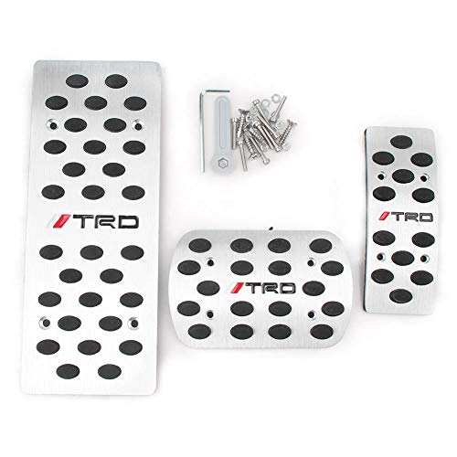 Timmart Aluminium AT TRD Car Fuel Brake Pad Footrest Pedal for Toyota Corolla RAV4 -
