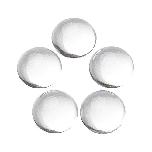Pandahall 20pcs Transparent Glass Cabochons Clear Imitation Gemstone 10mm Half Round Circle Cameo Pendant Settings Jewelry Making 10mm Round Cabochon Pendant