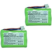 Cameron Sino 2-Pack 3.6V Ni-MH 700mAh Bang & Olufsen BeoCom 6000 2.4GHz Cordless Phone Battery Replacement for Bang & Olufsen 3HR-AAAU 70AAAH3BMXZ T373