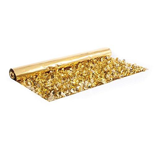 Gold Metallic Floral Sheeting - 3' x 10 yards