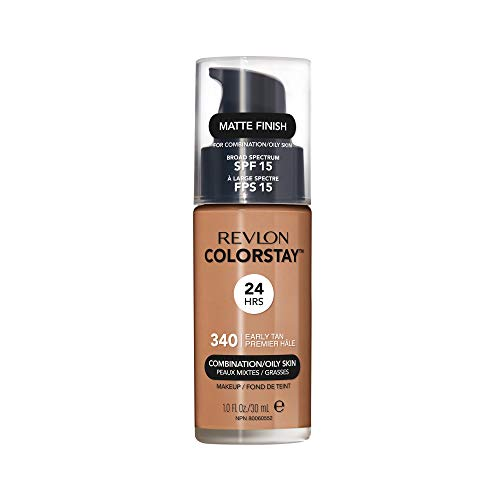 Revlon ColorStay Liquid Foundation For Combination/oily Skin, SPF 15 Early Tan, 1 Fl Oz